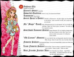Ever After High - Ashlynn Ella's Full Bio v3 by cjlou-the-bejeweler
