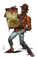 Darkotic Zombie Pizza Guy by Schoonz