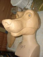 toony k9 resin mask sculpt by ShaggyGriffon