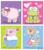 Sheep - Frog - Pig - Bear by Frog-FrogBR