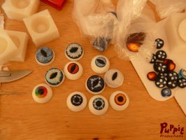 W.I.P: Firefox and snowfox BJD - eye tests by PuppitProductions