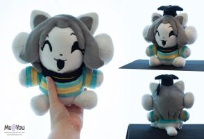Temmie plush (Undertale) by meplushyou