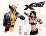 Unc. X-Force - Wolerine and X-23 by edtadeo