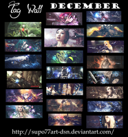 December Tag Wall by Supo77Art-Dsn