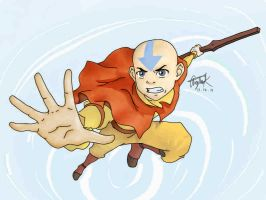 Avatar the Last Airbender: Aang by CrayonStix