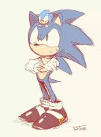 Modern sonic and classic sonic by Bella-the-halfsaiyan