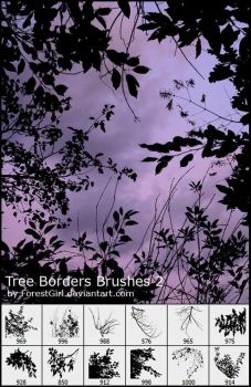 Tree Borders Brushes 2 by ForestGirlStock