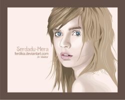 the girl in vector by ferdika