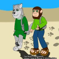 Ishmael Walks with Tina by KBAFourthtime