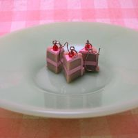 White Cake Pink Icing set by Miss-Millificent