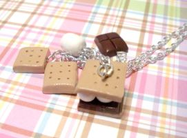 More Smores Necklace by AmbiguousAngel