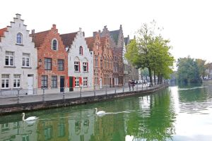Houses Along Brugge's Waterway-2 by Rea-the-squirrel