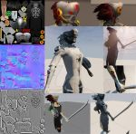 Low character model 2600 tris limit by lamarama12334