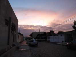 Sunset in my street by Tatmione