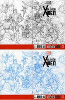 New Xmen Blank Cover art by kehchoonwee