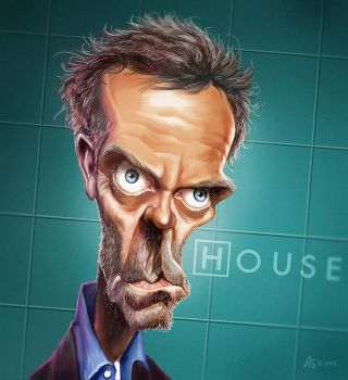 caricature dr house by AnthonyGeoffroy