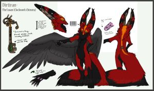 Dirtiran Ref sheet by Key-Feathers
