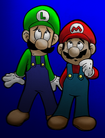 Mario and Luigi (Colored) by Zeragii