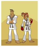 Karateka Move Player Characters by hangemhigh13