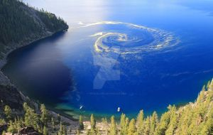 Giant Swirl of Pollen at Crater Lake by peteleclerc