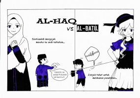 Al-Hak VS Al-Batil by Luvvyllashine