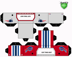 patriots bills helmets by 1madhatter