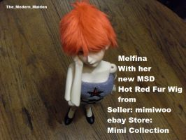Melfina Red Fur Wig 4 by The-Modern-Maiden