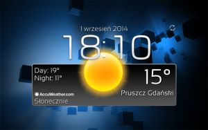 Classic Accuweather Widget With Clock by Slavoo123