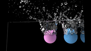 3D Model of Balls in Water by IdanCarre