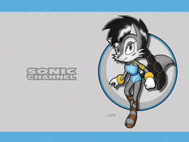 Sonic Channel Lupe Wallpaper by E-122-Psi