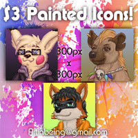 Comm: Digitally Painted Icons 3! by the-b3ing