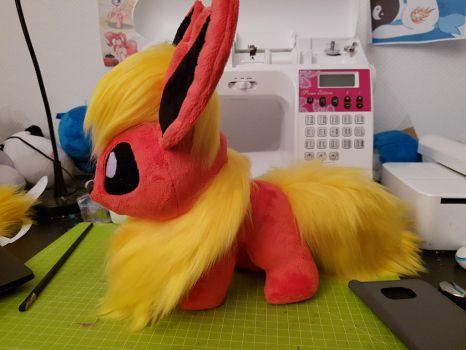 Chibi Flareon Plush (for sale) by AlayasYazoo