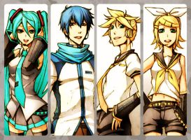 vocaloid - bookmark2012 by pandabaka