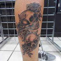 Skulls and Roses from some Flash by TheArtistKevin