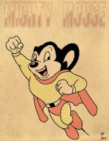 mighty mouse poster by desithen