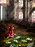 Flowers in the church by Azurelly