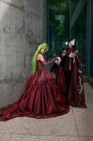 C.C. and Lelouch Prom 011 by DownFall2448