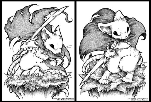 Mouse Guard Fan Art of Saxon and Lieam by o-kemono