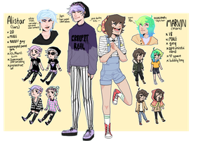 Alistar and Marvin Dual Ref Sheet by polterqueist