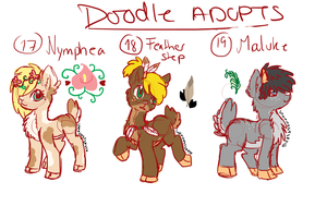 Doodle pony adopts adopts 7 CLOSED by Sarahostervig