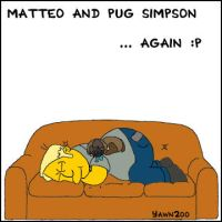 Matteo and Pug Simpson 2 by yawn2oo