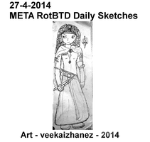 META RotBTD 2014 Daily Sketch 4-27 by veekaizhanez