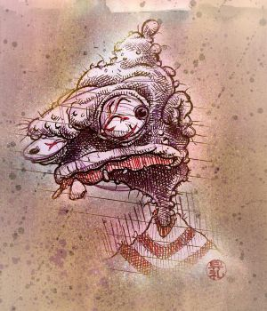 Pickled Monster Sketch by ratcrtur