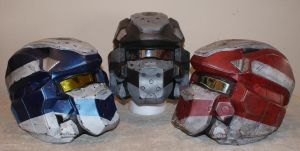 Halo 4 Warrior helmets Lifesized by Hyperballistik