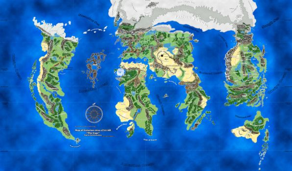 Fan-made Golarion map by DarthSunshine42