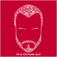 CM Punk Guy Typography by Omarison