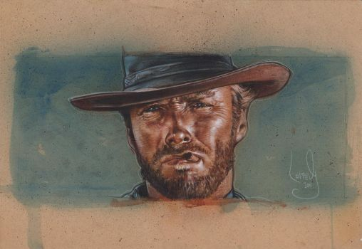 Clint Eastwood Painting by JeffLafferty