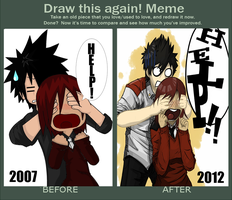 Draw This Again! Meme: Before and After by Aquarim
