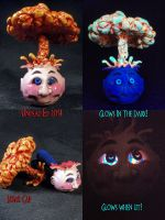 GPK Atom Bomb Pipe by Undead Ed Glows in the Dark  by Undead-Art