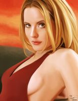 Emma Caulfield digital paint by frostdusk